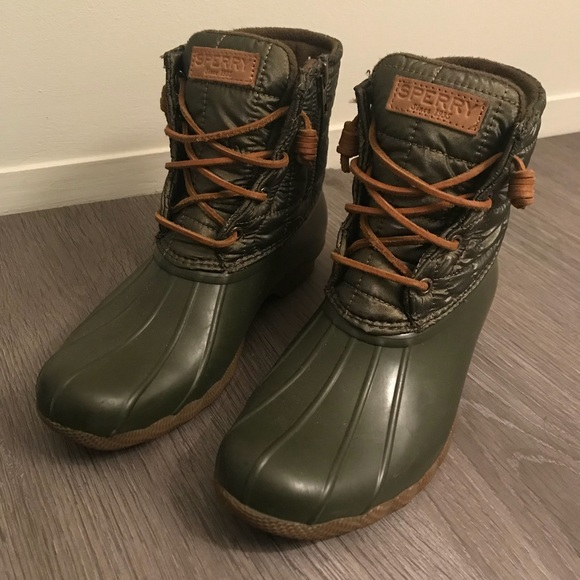 Topsider Olive Green Duck Boots